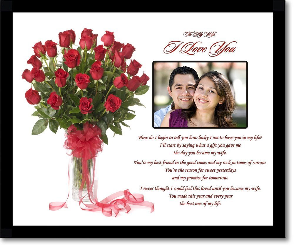 Ideas For First Wedding Anniversary Gift For Wife : ... love-you-gift-for-wife-romantic-anniversary-valentines-day-gift