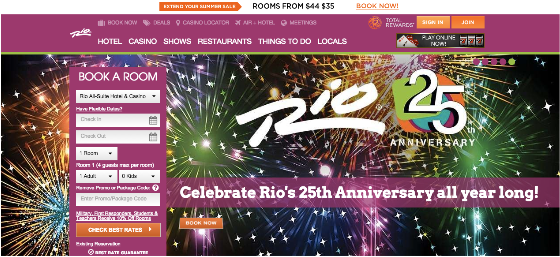 We have 3 Rio Las Vegas discount codes for you to choose from including 3 sales. Most popular now: Subscribe to Rio Las Vegas Emails for Exclusive Deals. Latest offer: Check Out 80%(5).